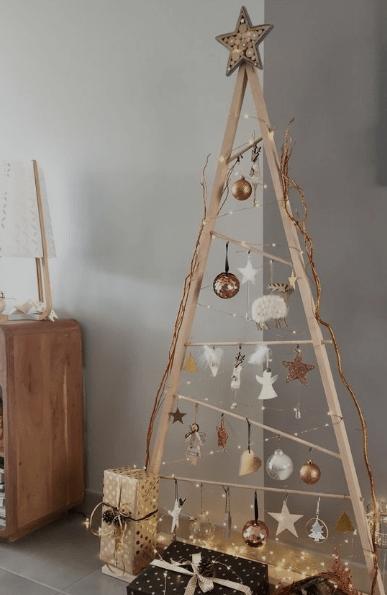sapin en bois de noël 2019