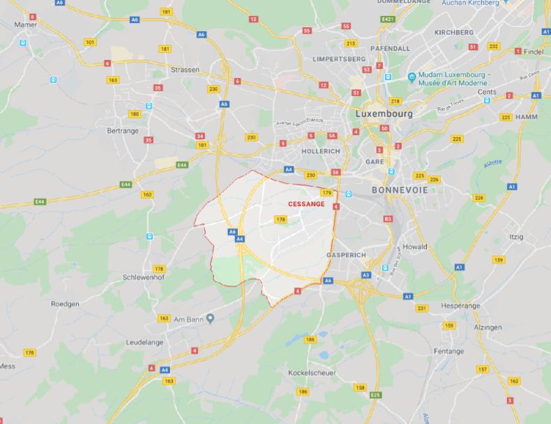 Cessange sur google map