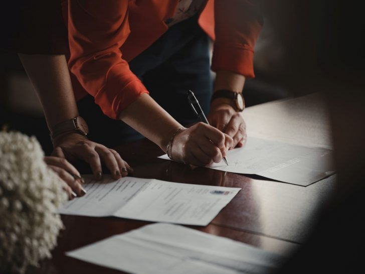 Signature du contrat de vente